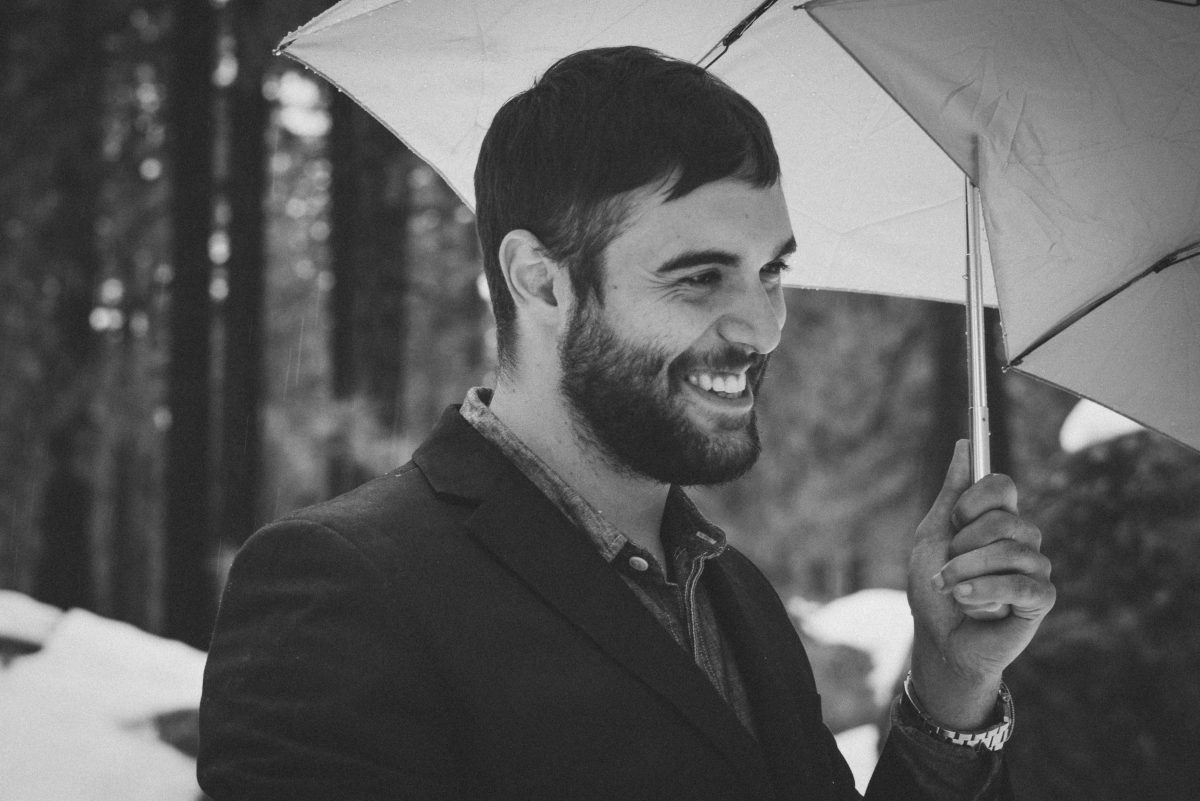 Black and White Smiling Groom