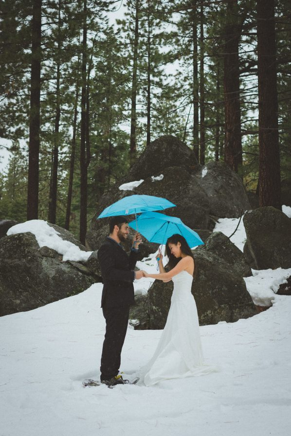 Groom Speaking Vows in Lake Tahoe