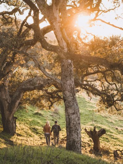 Outdoor engagement photography in Morro Bay