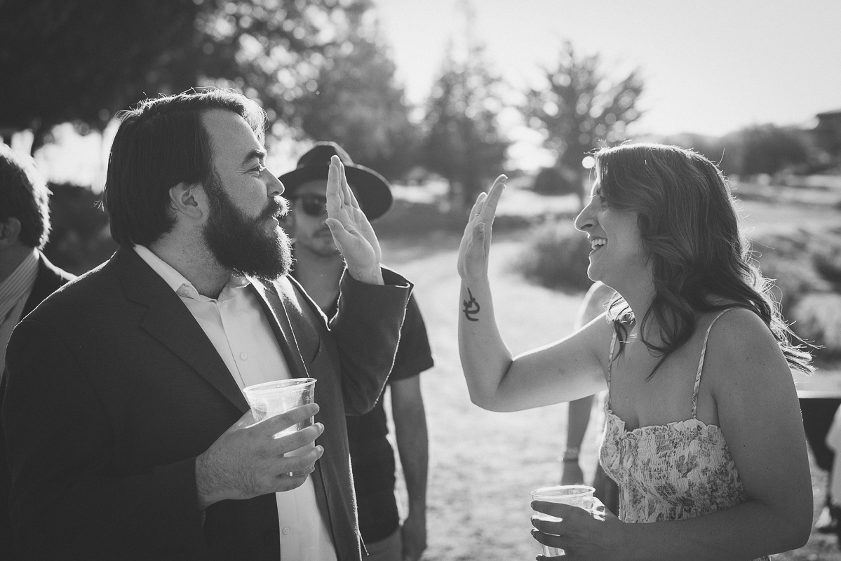High five for a Central California Outdoor Wedding