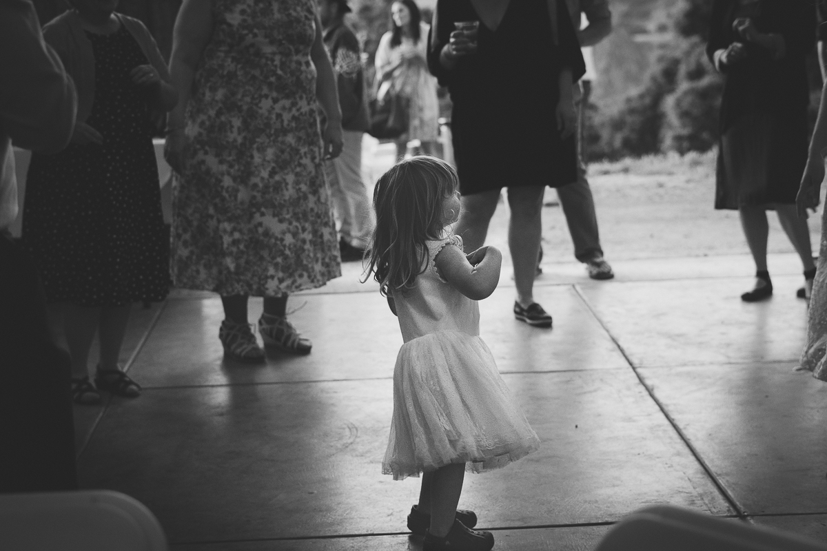 adorable flower girl dancing