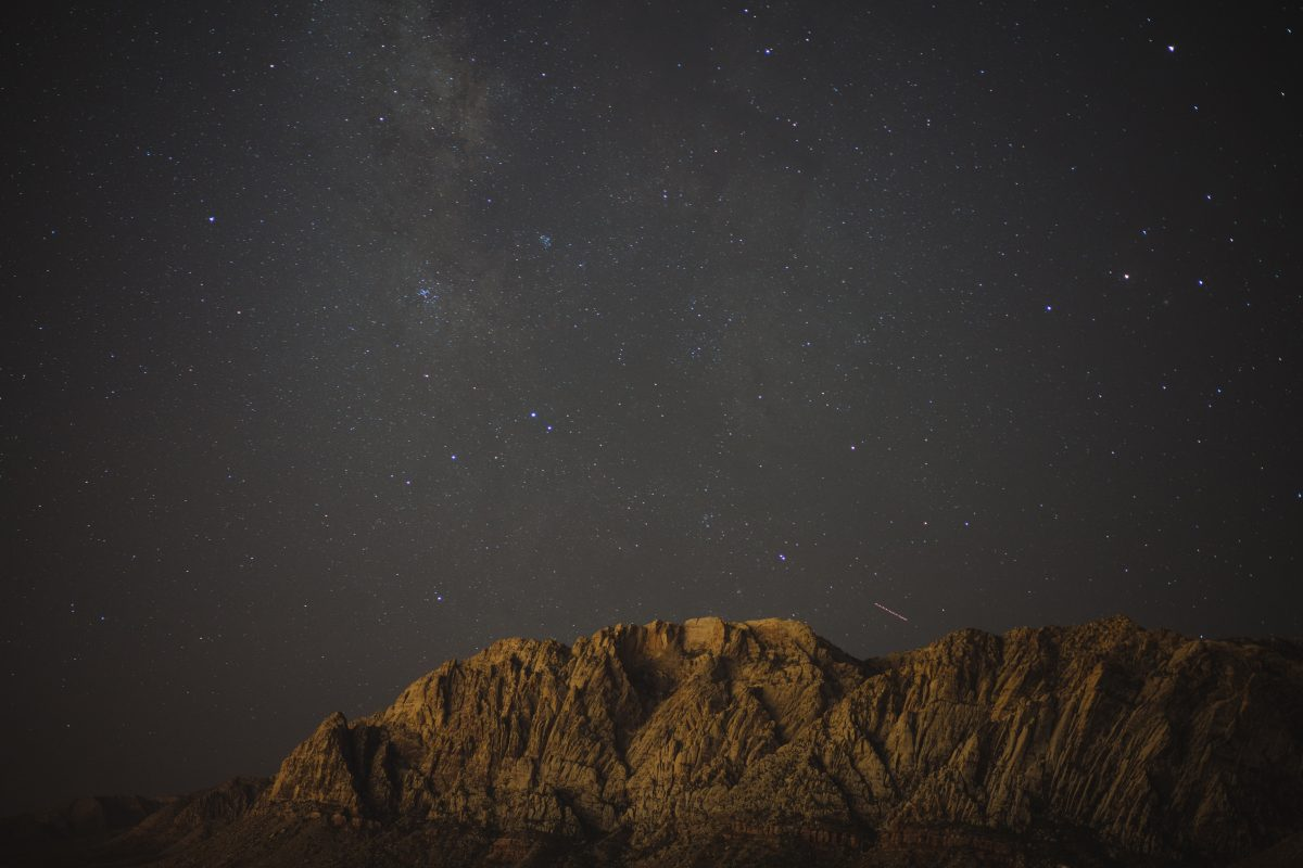 Milky Way Over Red Rocks Las Vegas