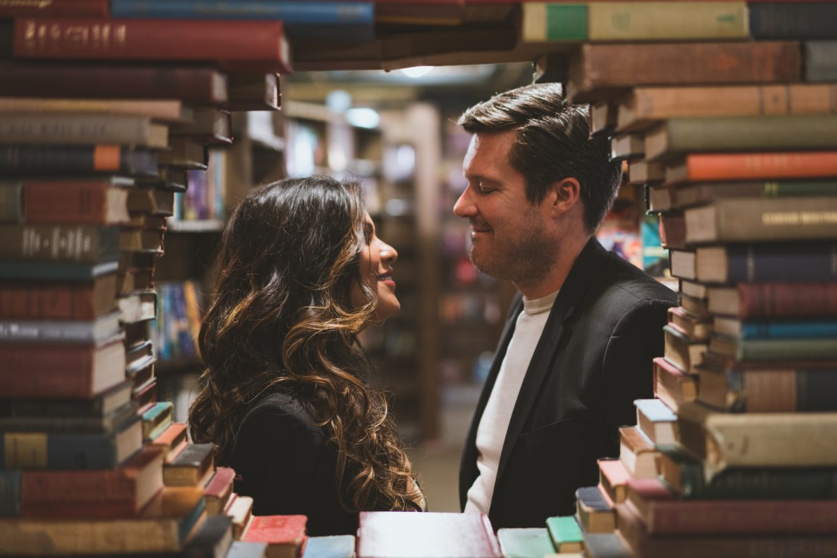 Circle of Books Engagement Pictures
