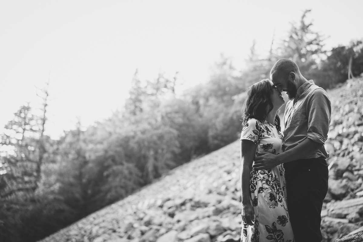 Mount Baldy Engagement pictures black and white