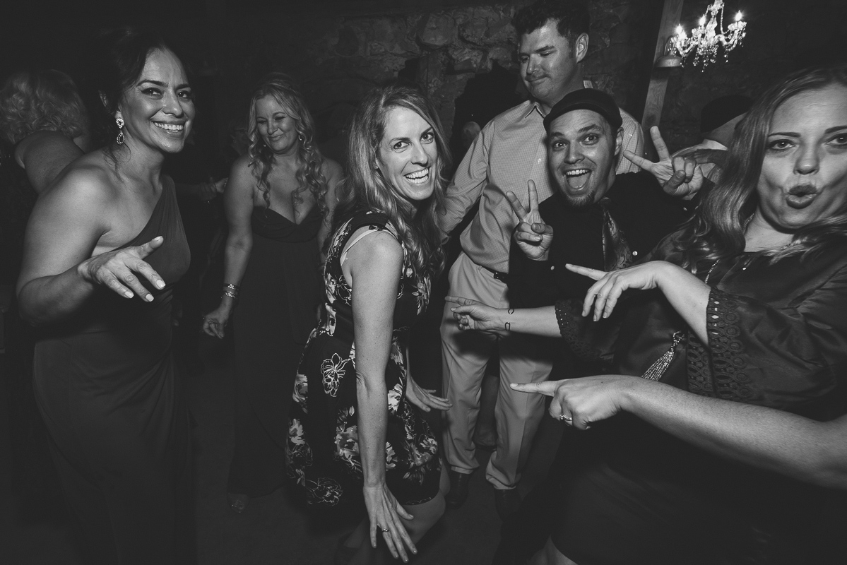 Friends of the bride and groom having fun