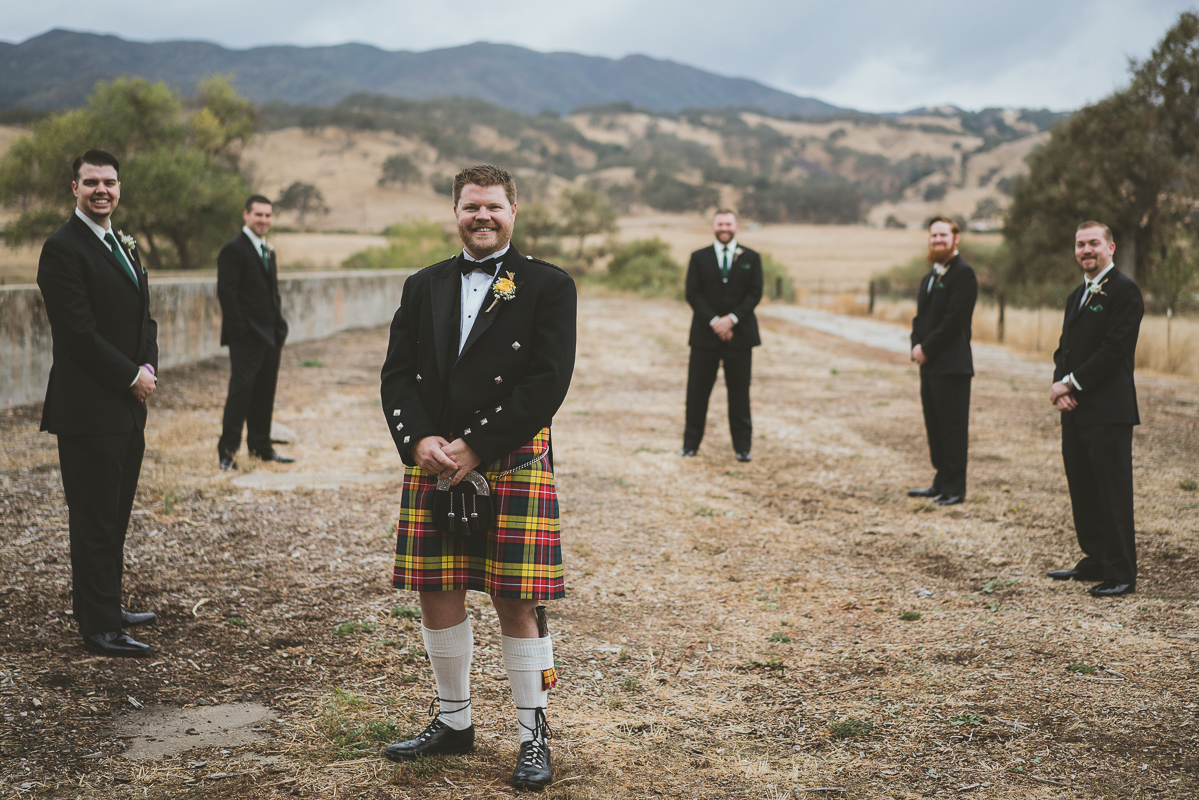 groom and his wedding party