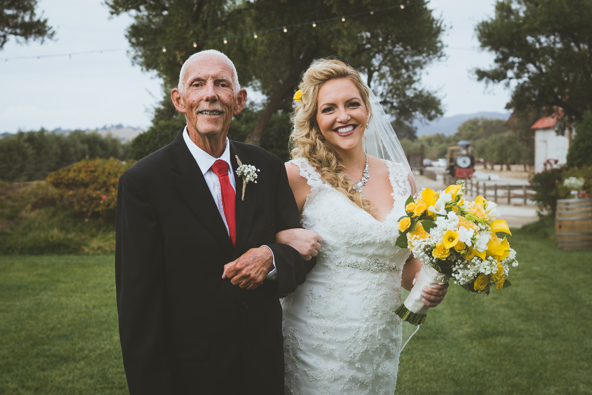 bride and father portrait