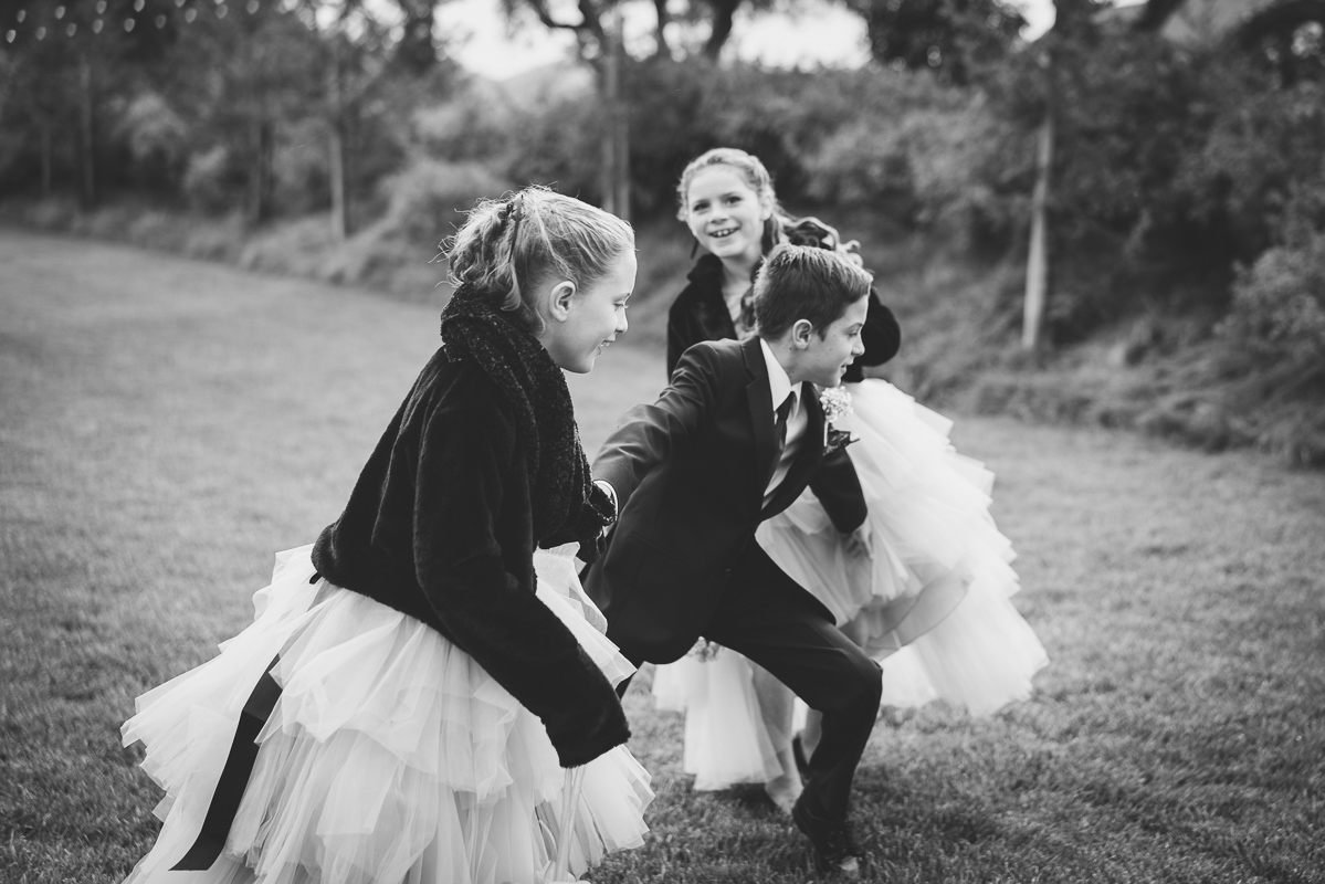 Kids playing at the wedding