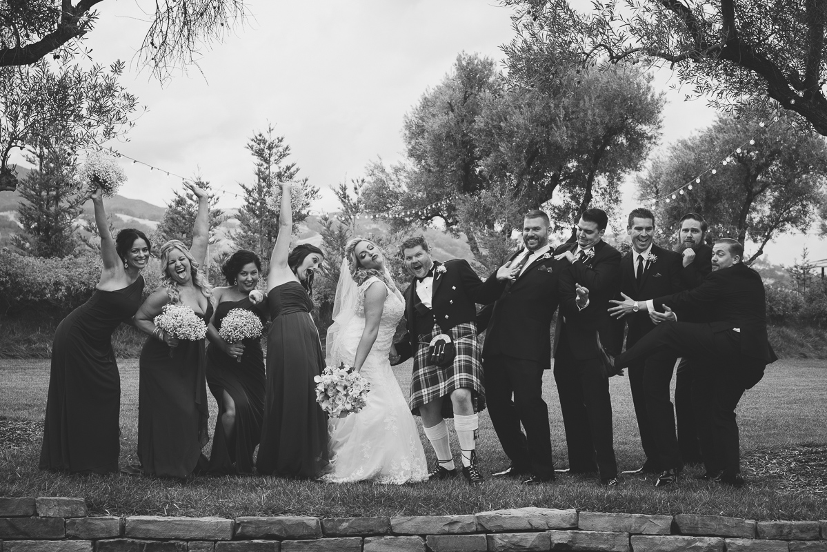 Funny wedding party picture