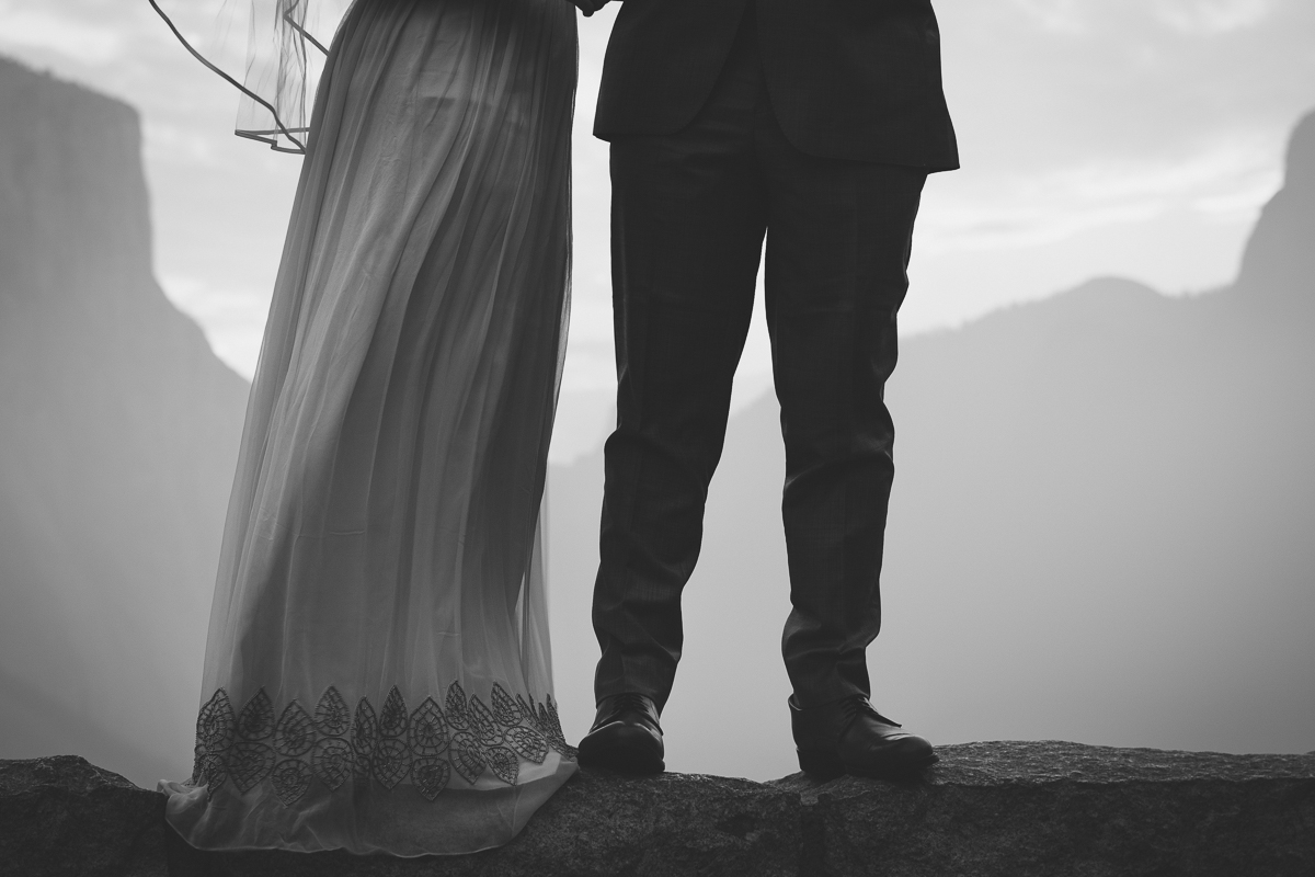 Black and white wedding art photography