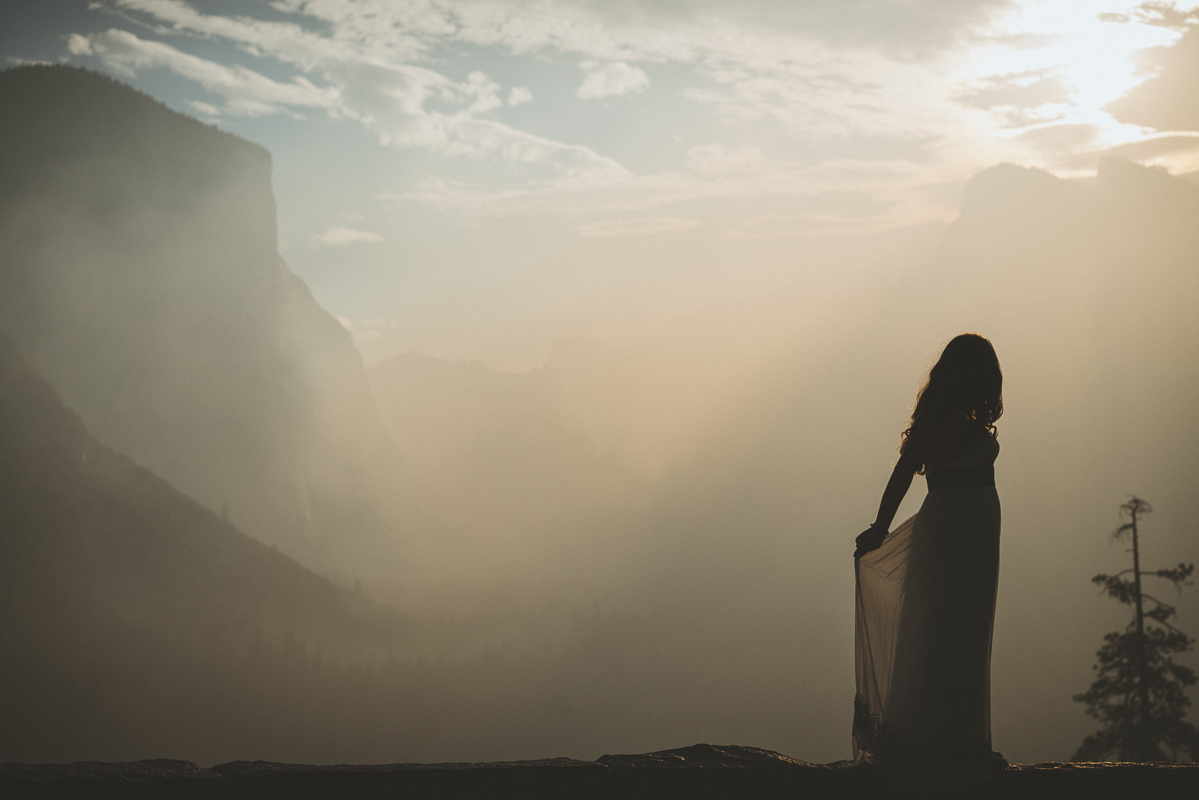 Bride dancing during sunrise