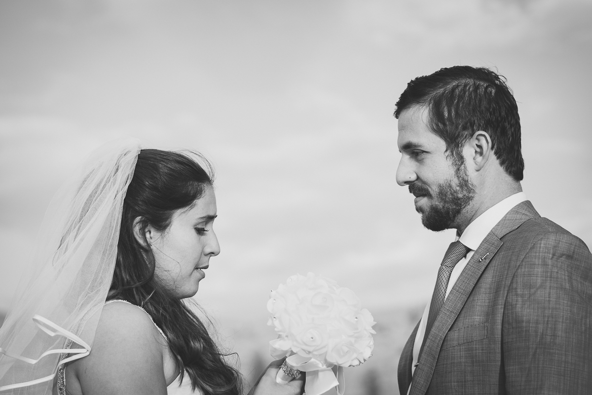 Black and white elopement