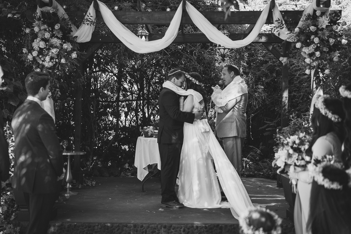 Traditional wedding ceremony in Ojai