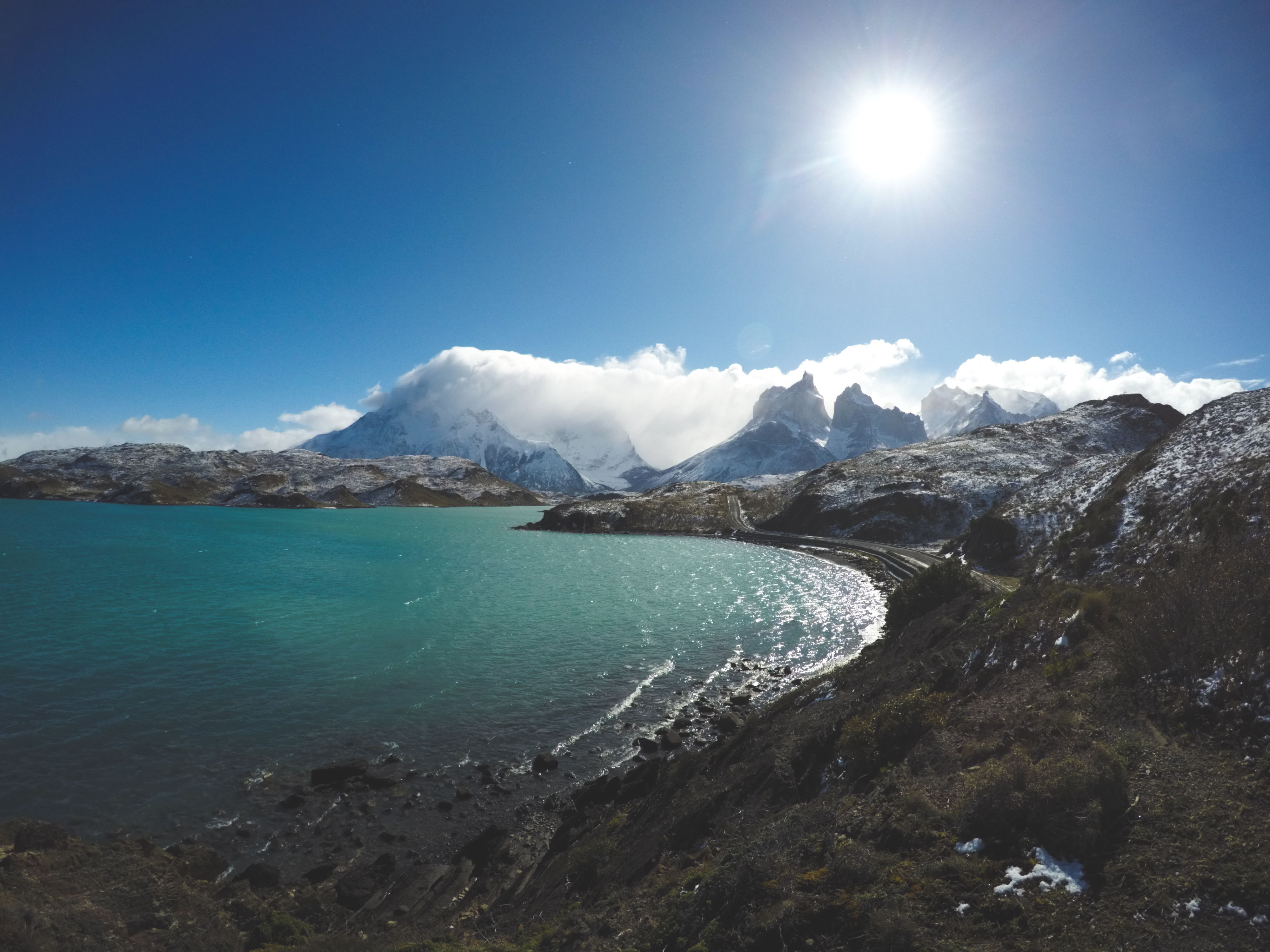 Lake Pehoe in Chilean Patagonia, Torres del Paine