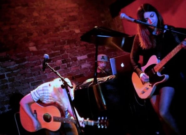 Jesse Thomas and The Young Romans playing at Rockwood Music Hall