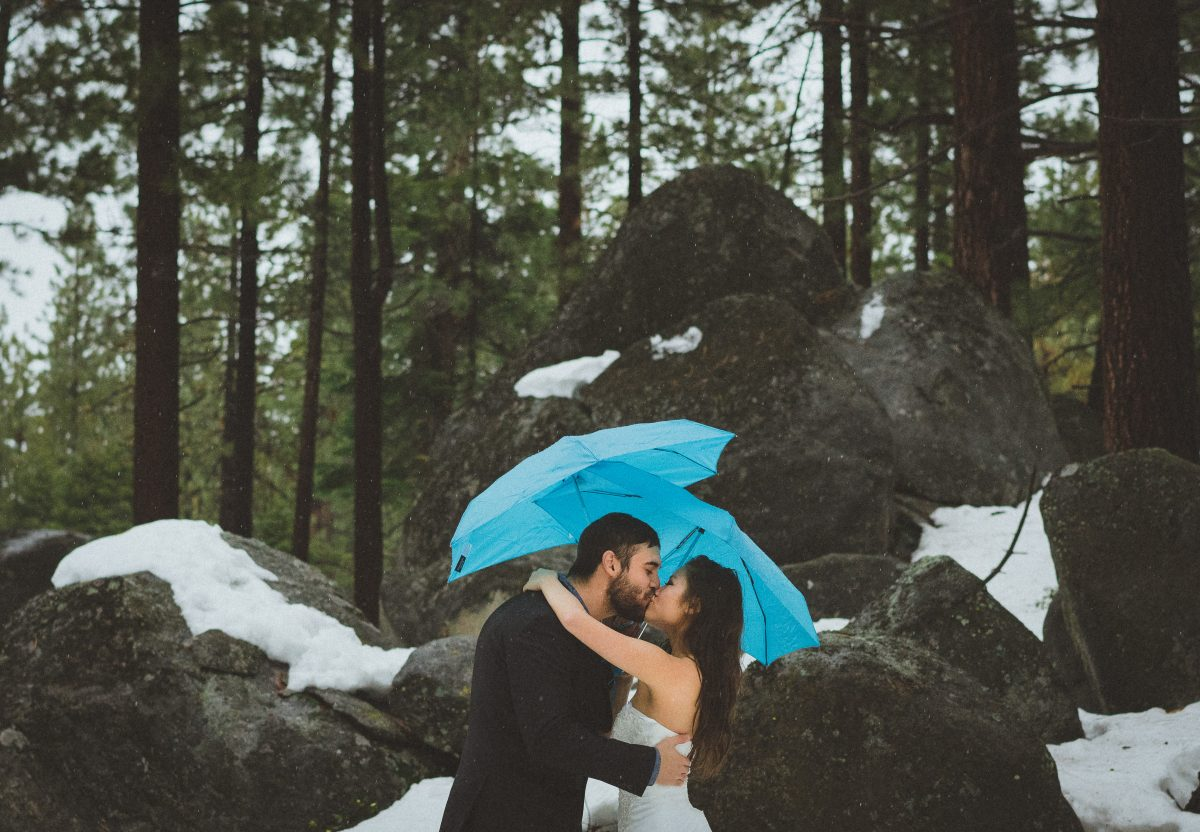 Winter Elopement in the Snow