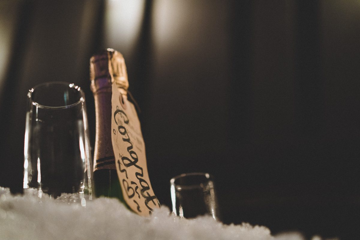 Champagne for the Elopement at the Coachman Hotel