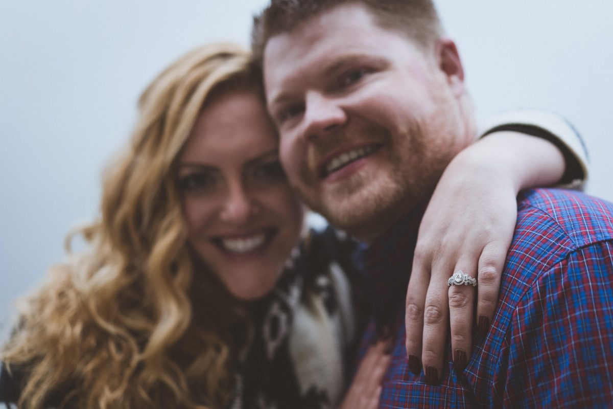 Ring Focus Engagement Photography