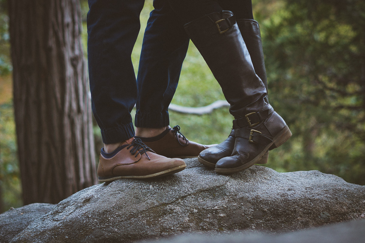 shoe style engagement photo