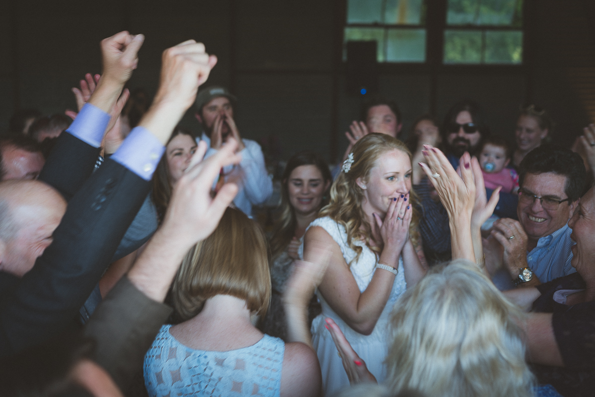 emotional moment for the bride