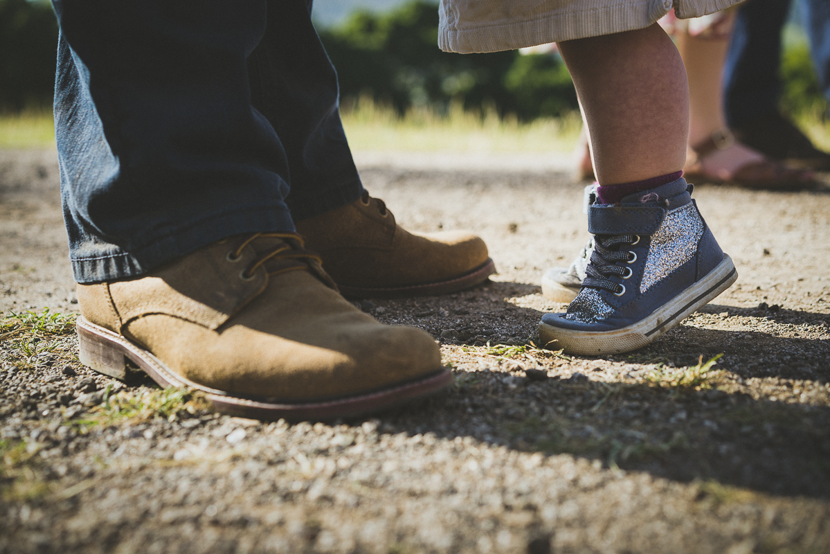 man shoes and baby shoes