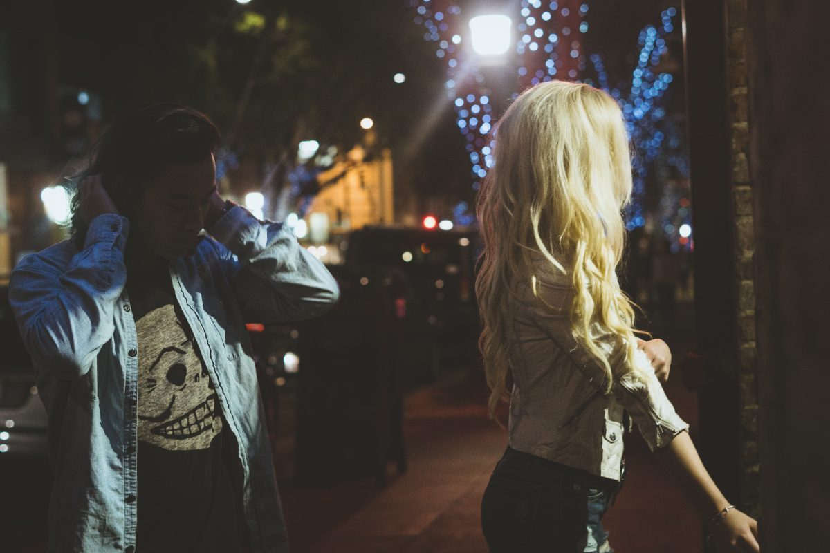 City night engagement Photography in Pasadena