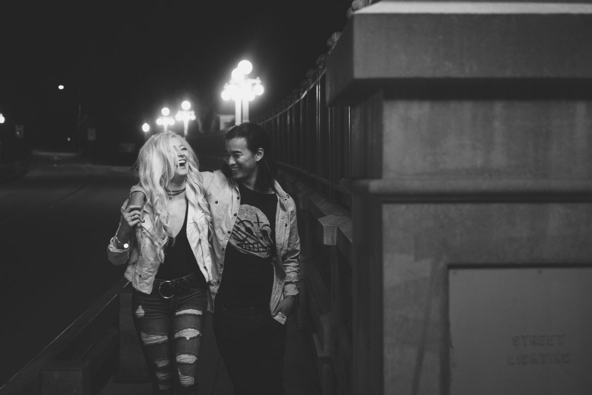 Los Angeles Candid engagement photography