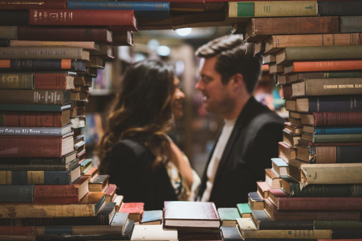 The Last Bookstore Engagement Pictures