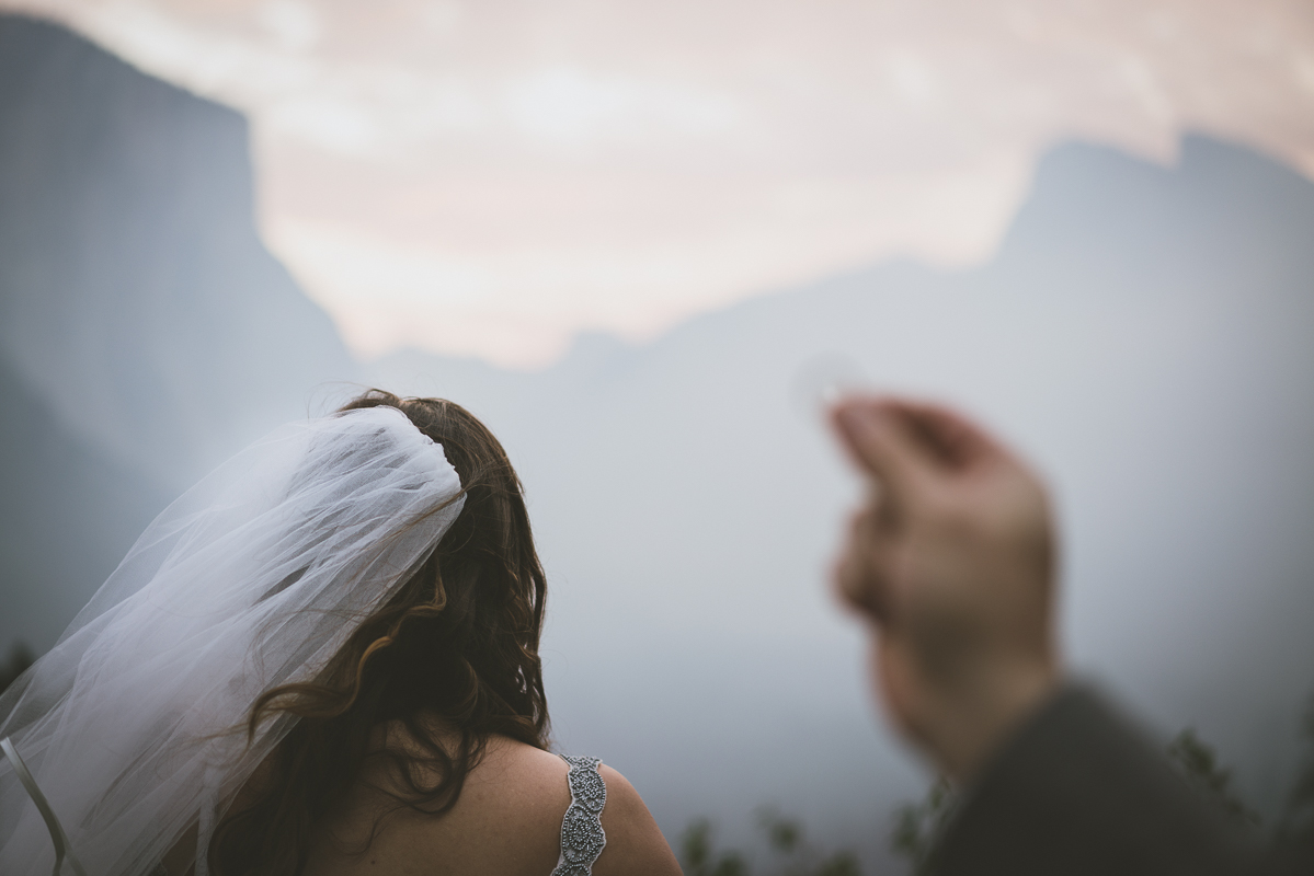 The bride and the wedding ring