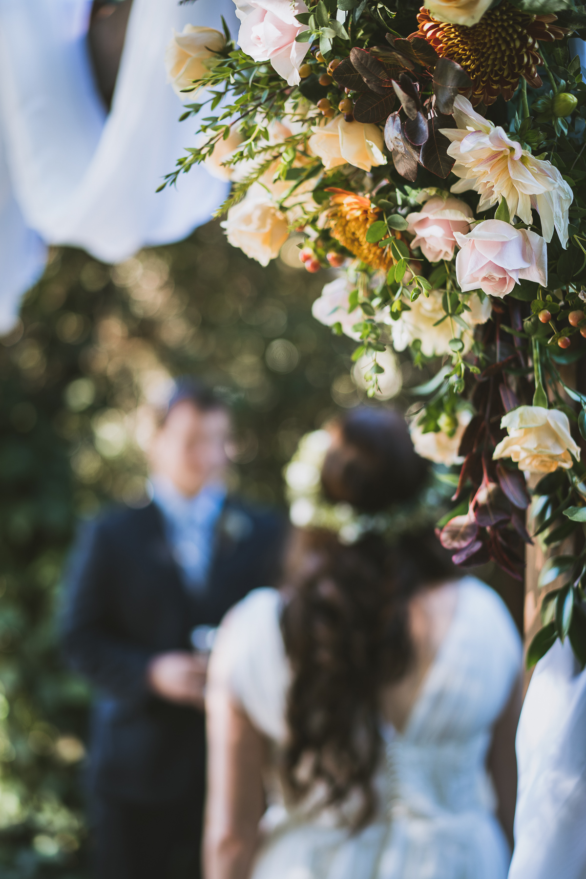 Flowers and the bride