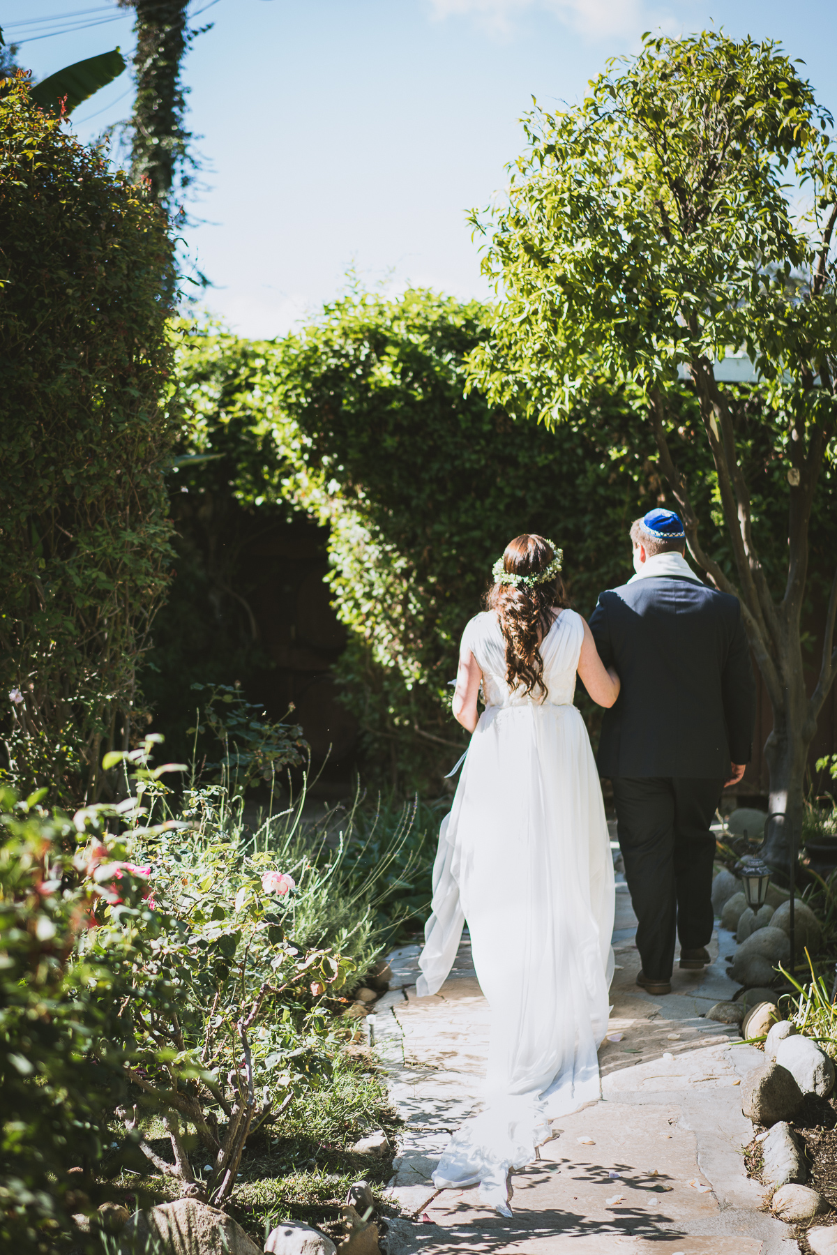 Couple just married