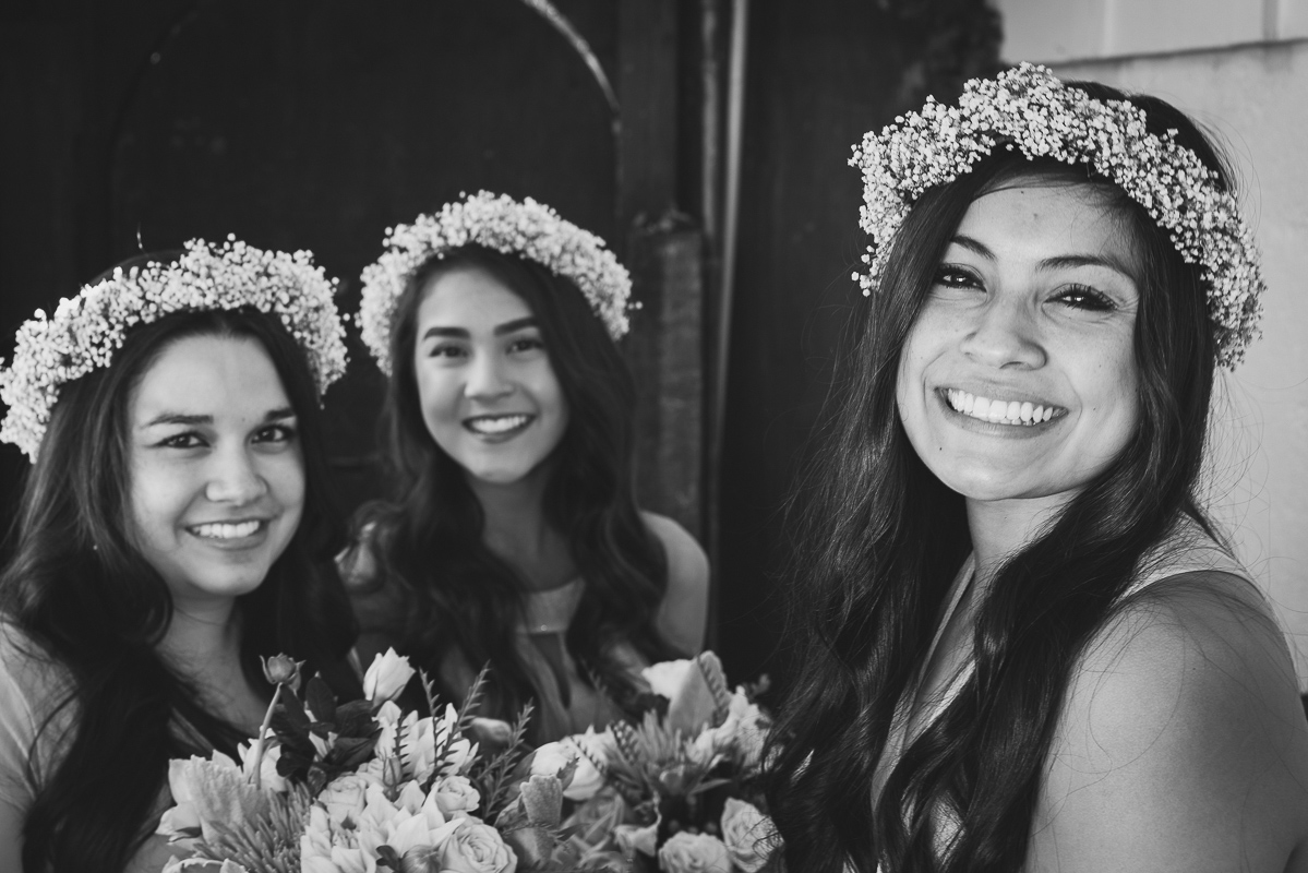 bridesmaids and made of honor