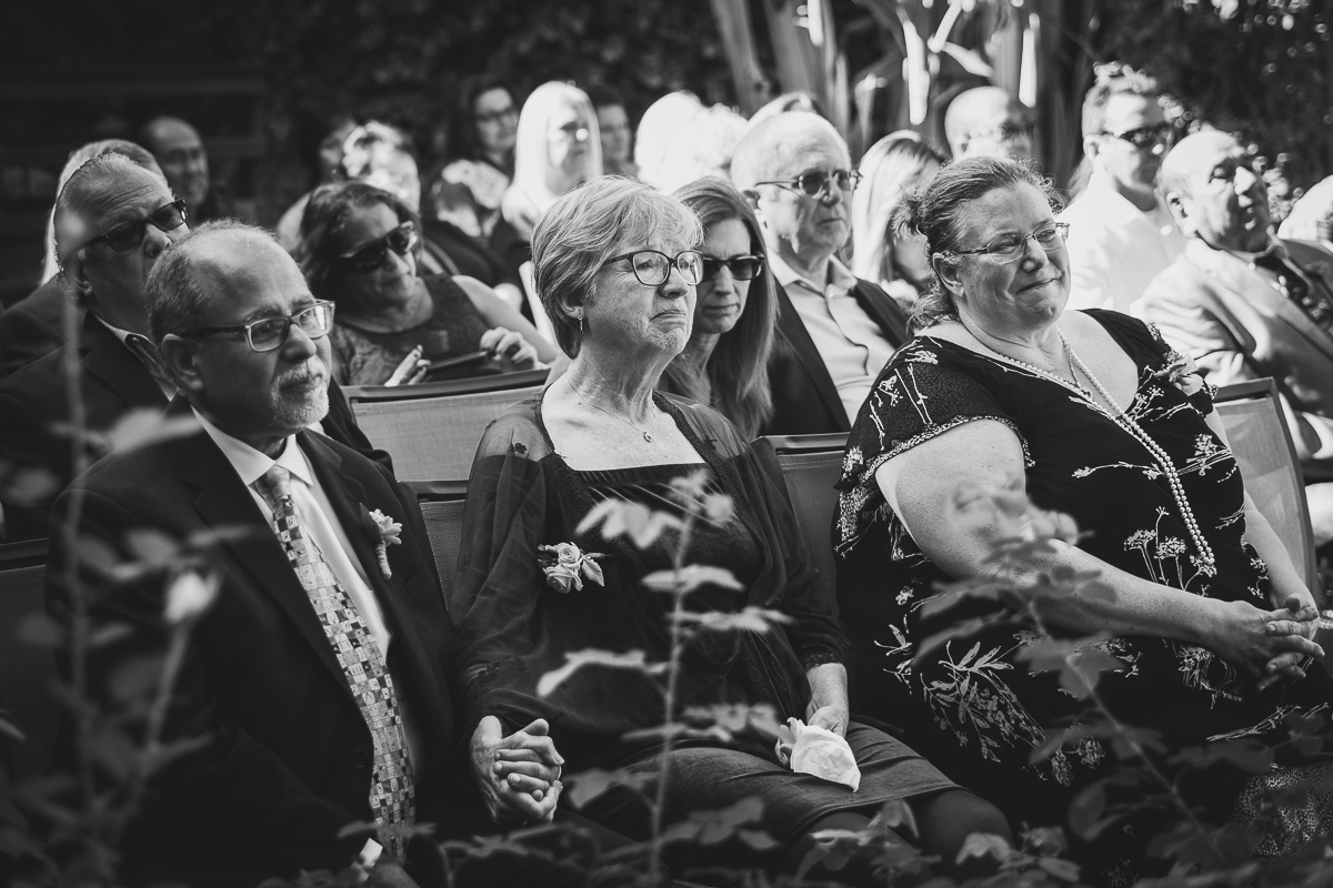 Parents getting emotional during wedding ceremony