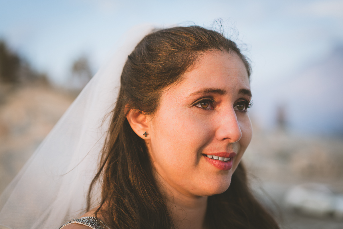 Gorgeous bride in Yosemite National park